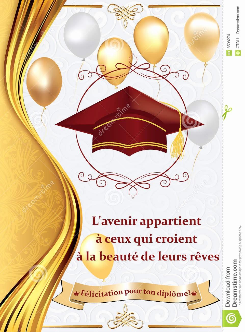 Tarjetas De Felicitaciones Para Graduacion Elegant Tarjeta De Felicitación Francesa De La Graduación También