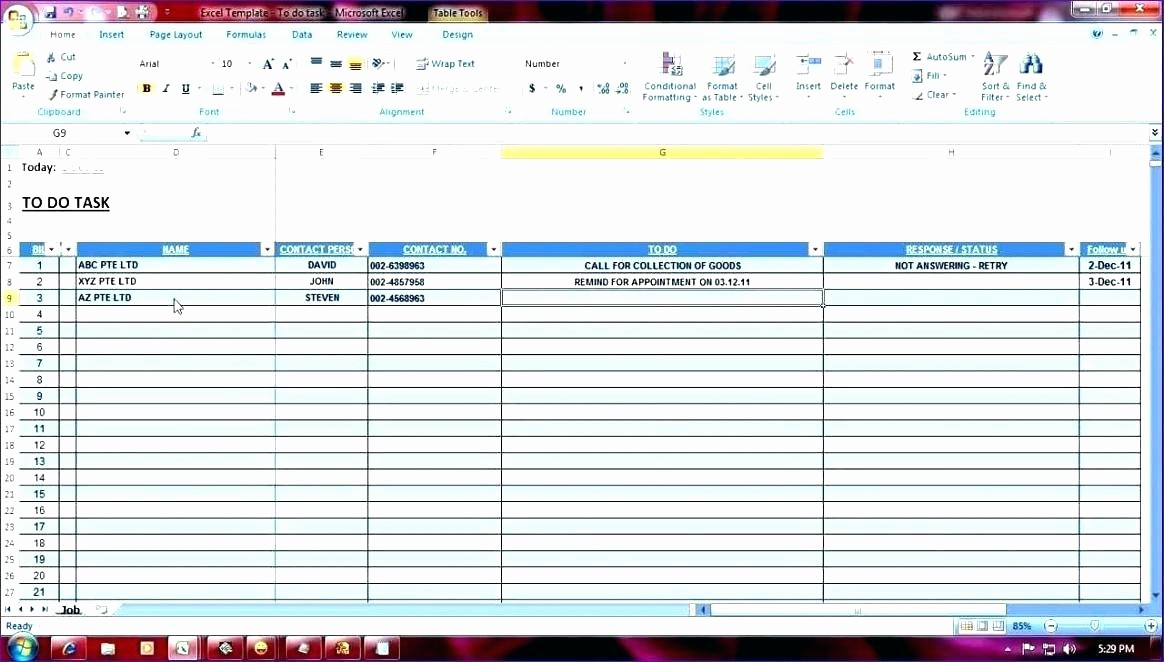Task List Template Excel Spreadsheet Awesome Excel Task Tracker Template Daily Task Tracker Task