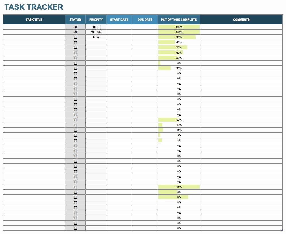 Task List Template Excel Spreadsheet Inspirational 15 Free Task List Templates Smartsheet