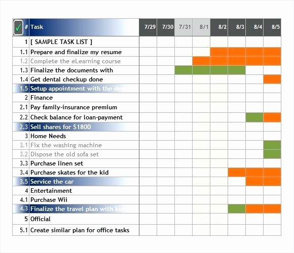 Task List Template Excel Spreadsheet Unique Excel Task Tracker Template Templates Collections
