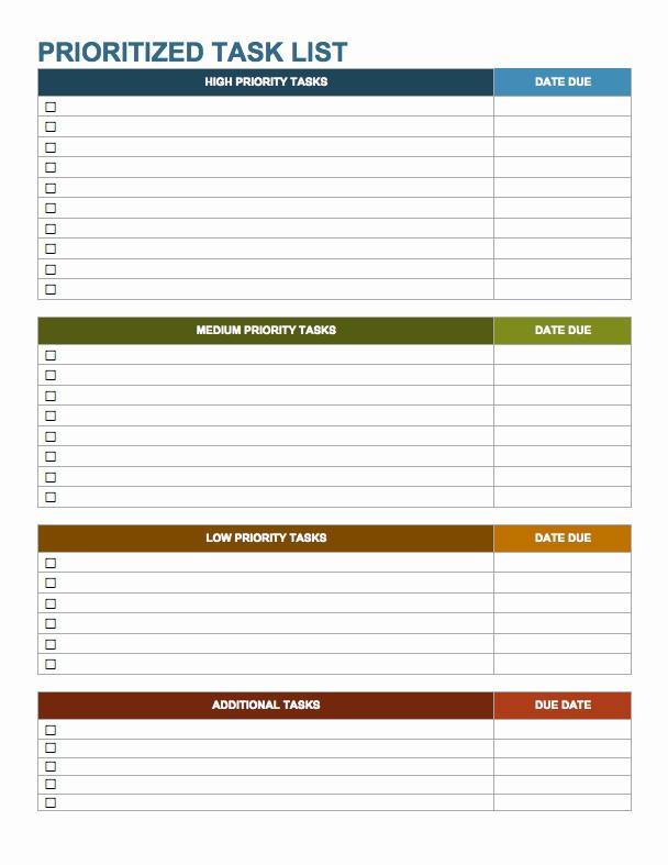 Task to Do List Template Elegant 15 Free Task List Templates Smartsheet