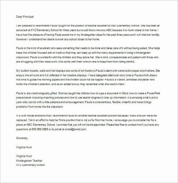 Teacher Letter Of Recommendation Template Awesome 28 Letters Of Re Mendation for Teacher Pdf Doc