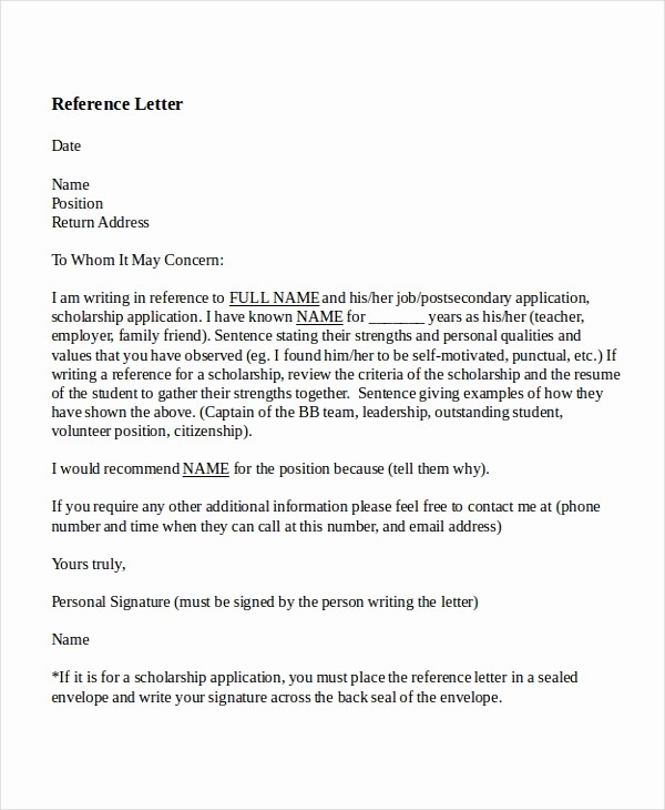 Teacher Letter Of Recommendation Template Beautiful 8 Reference Letter for Teacher Templates Free Sample