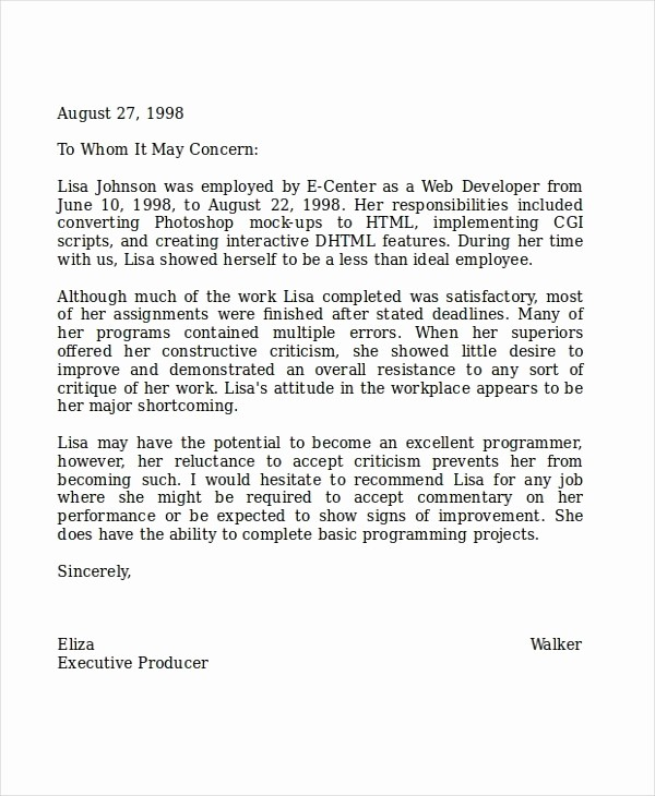 Teacher Letter Of Recommendation Template Lovely How to Write A Letter Re Mendation for Coworker