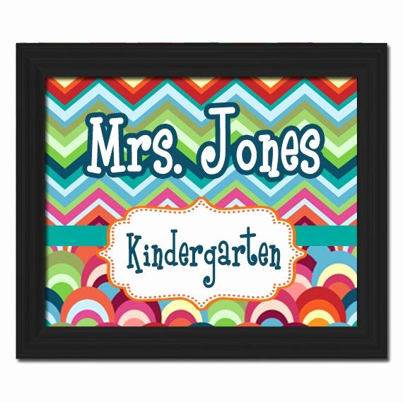 Teacher Name Signs for Classroom Awesome Custom Printable Pdf File Diy Teacher Name Sign by