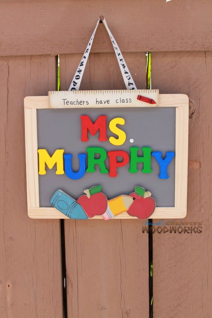 Teacher Name Signs for Classroom Beautiful Personalized Teacher Door Sign Teacher Appreciation Gift