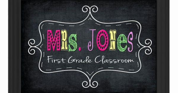 Teacher Name Signs for Classroom Best Of Custom Printable Pdf File Diy Teacher Name Sign