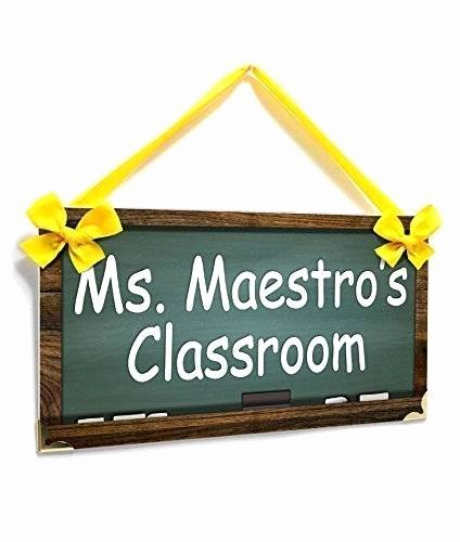 Teacher Name Signs for Classroom Elegant Amazon Classroom Personalized Teacher Name Plate