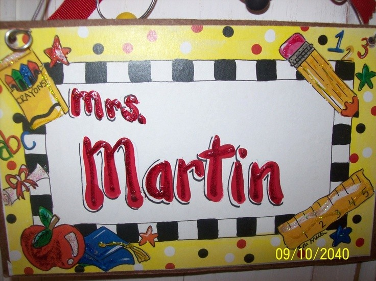 Teacher Name Signs for Classroom Elegant Hand Personalized Teacher Classroom Name Sign