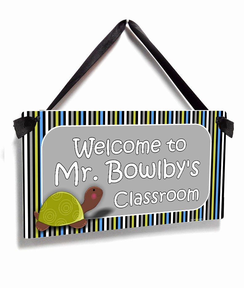 Teacher Name Signs for Classroom Fresh Personalized Male Teacher Name Classroom Door Sign Mr Green