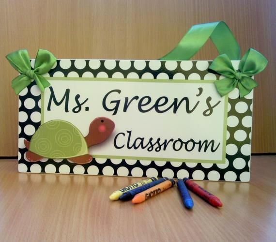 Teacher Name Signs for Classroom Fresh Personalized Teacher Name Classroom Door Sign White by