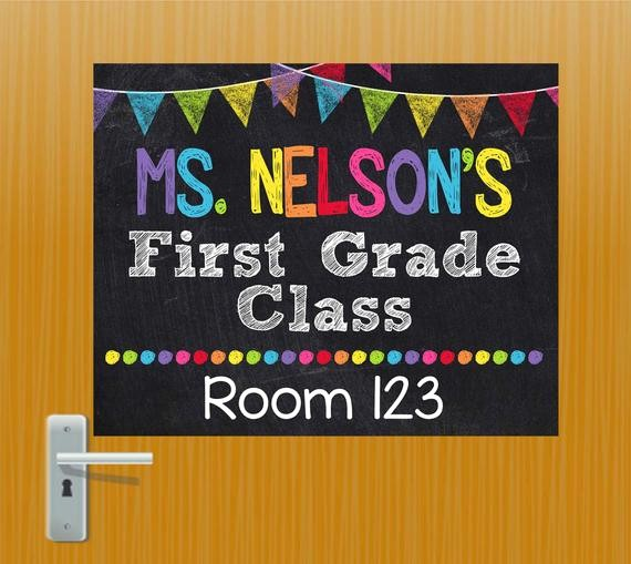 Teacher Name Signs for Classroom Fresh Teacher Door Sign Personalized Teacher Sign Classroom Door