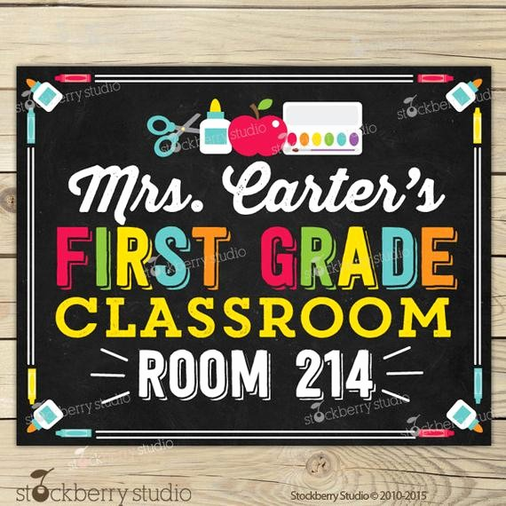 Teacher Name Signs for Classroom Fresh Teacher Name Sign Classroom Decor Classroom Printables