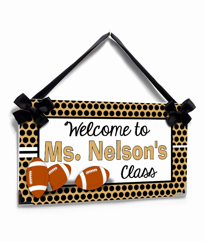 Teacher Name Signs for Classroom Lovely Personalized Teacher Name Classroom Door Sign Sports theme