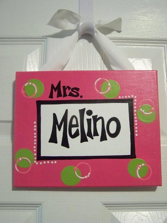 Teacher Name Signs for Classroom Luxury Handpainted Teacher S Classroom Name Sign by