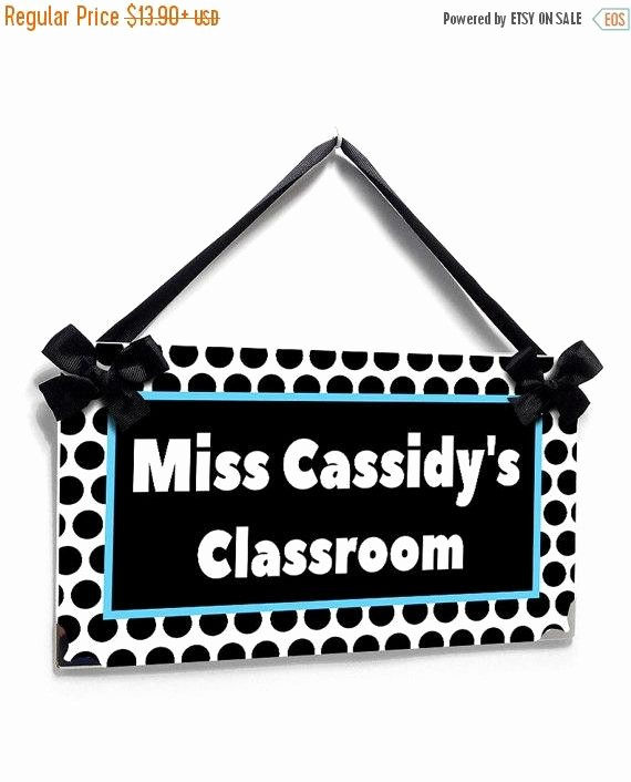Teacher Name Signs for Classroom Luxury On Sale Personalized Teacher Name Classroom Door Sign by
