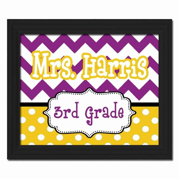 Teacher Name Signs for Classroom New Unavailable Listing On Etsy