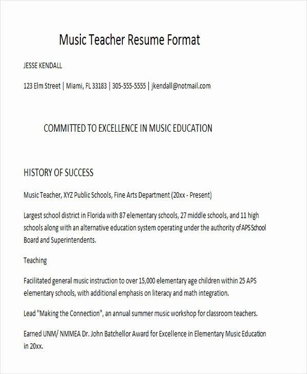 Teacher Resume format In Word Beautiful 25 Teacher Resume Templates In Word