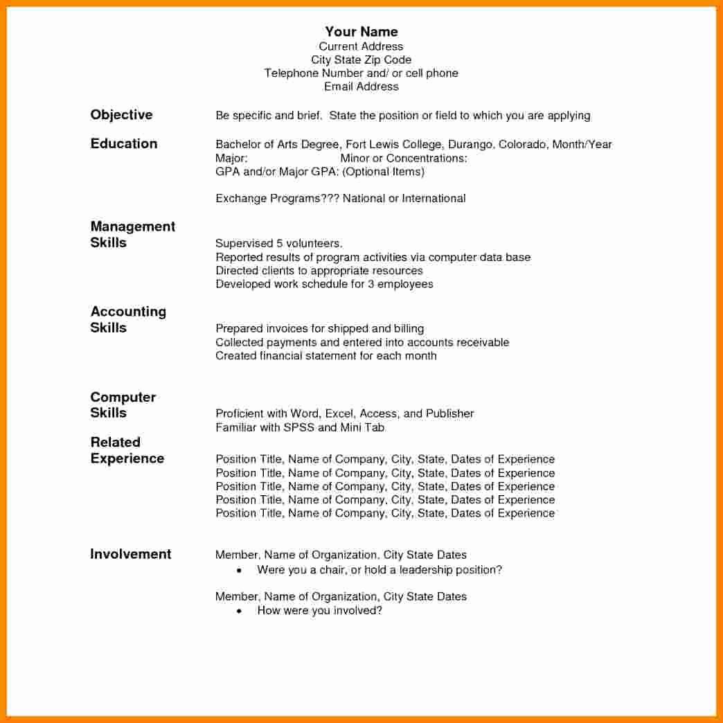 Teacher Resume format In Word Beautiful 9 Cv In English Word format