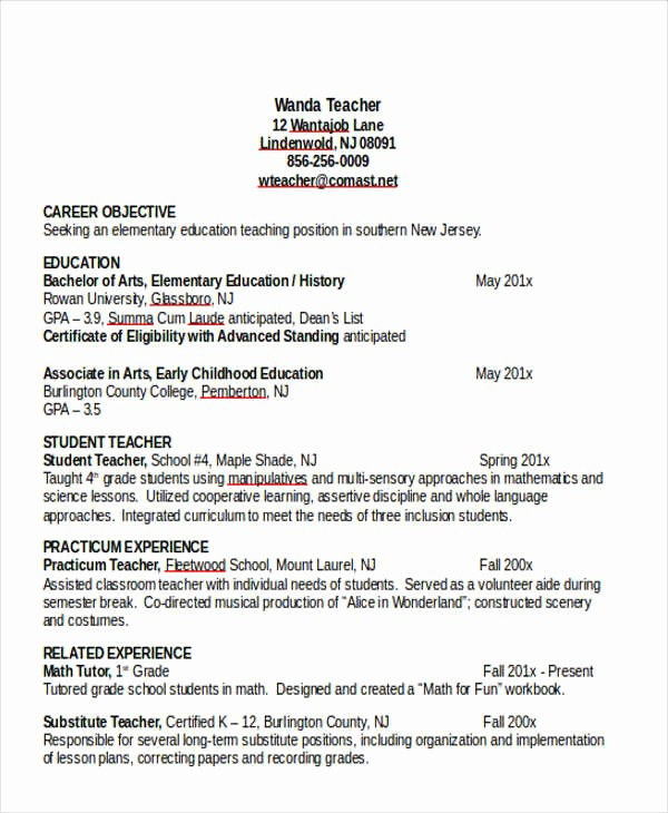Teacher Resume format In Word Best Of 25 Teacher Resume Templates In Word