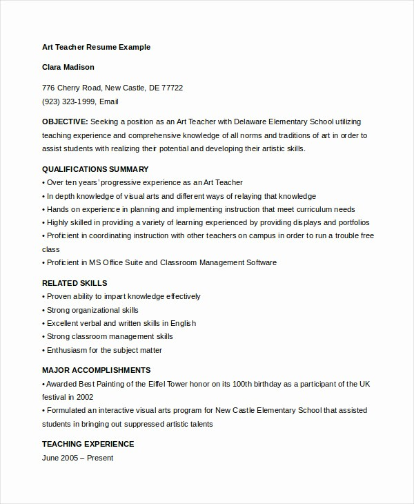 Teacher Resume format In Word Fresh 29 Teacher Resume Templates Free Pdf Word Documents