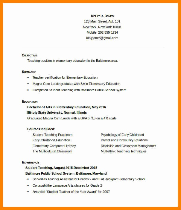 Teacher Resume format In Word Inspirational 6 Fresher Teacher Resume format In Word