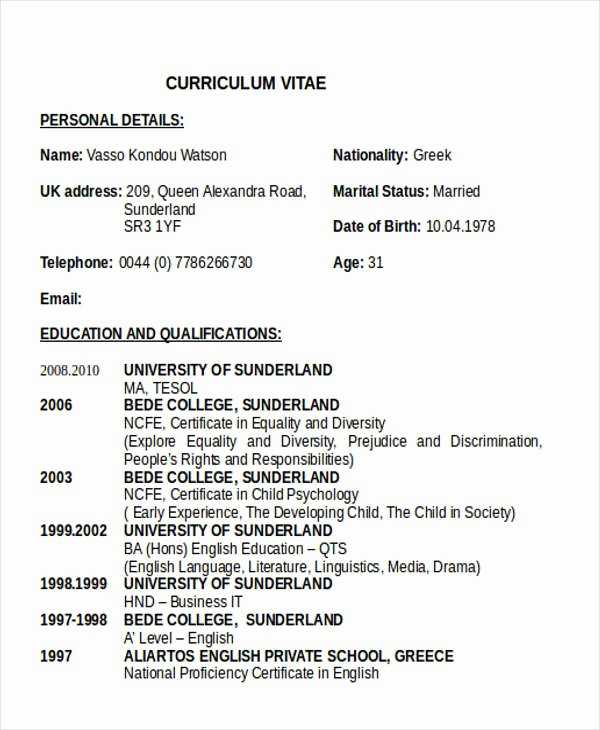 Teacher Resume format In Word Luxury 28 Teacher Resume Templates Download