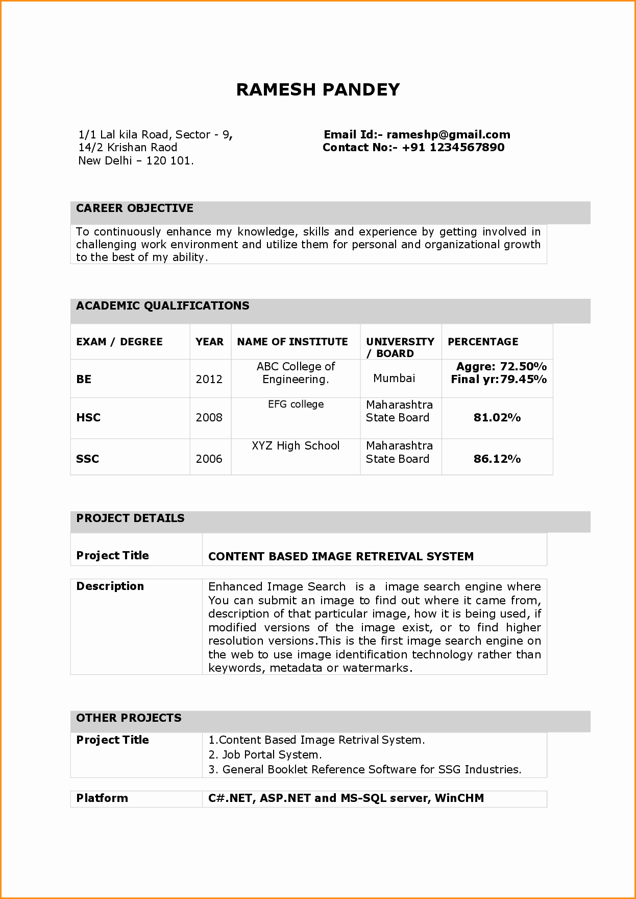 Teacher Resume format In Word Unique 9 Fresher Teacher Resume format In Word