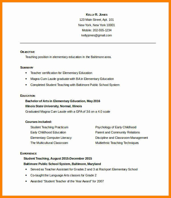 Teacher Resume Template Free Download Awesome 7 Teacher Cv format In Ms Word