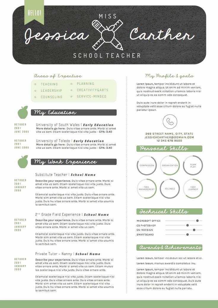 Teacher Resume Template Free Download Beautiful Resume Template Cv Template Cover Letter for Word 4