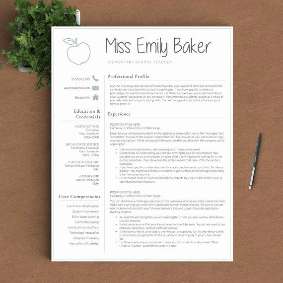 Teacher Resume Template Free Download Elegant Best 25 Teacher Resume Template Ideas On Pinterest