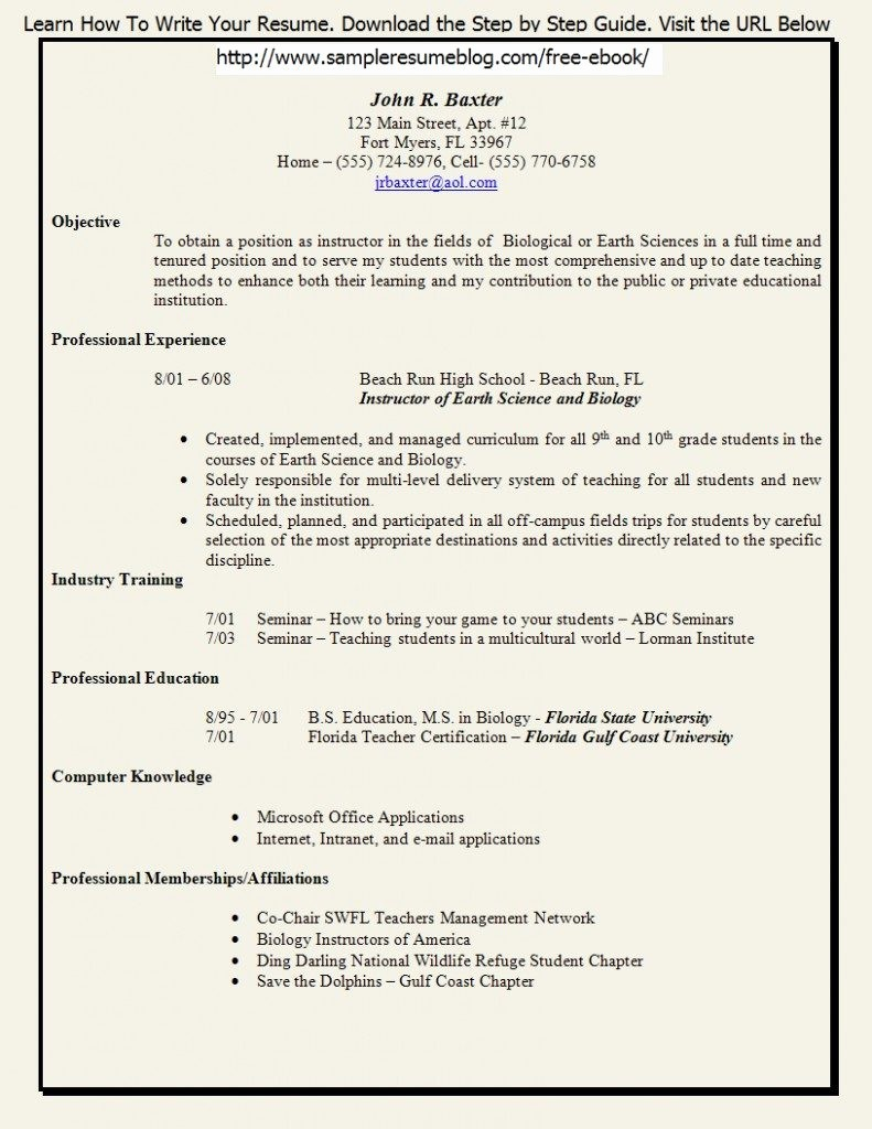 Teacher Resume Template Free Download Luxury Resume format for Puter Teachers Pdf