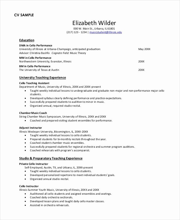 Teacher Resume Template Free Download Unique Teacher Resume Examples 23 Free Word Pdf Documents