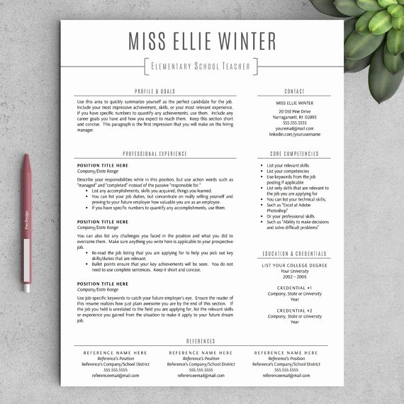 Teacher Resume Template Word Free Elegant Best 25 Teacher Resume Template Ideas On Pinterest
