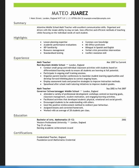 Teacher Resume Template Word Free Elegant Free Blank Resume Templates for Microsoft Word
