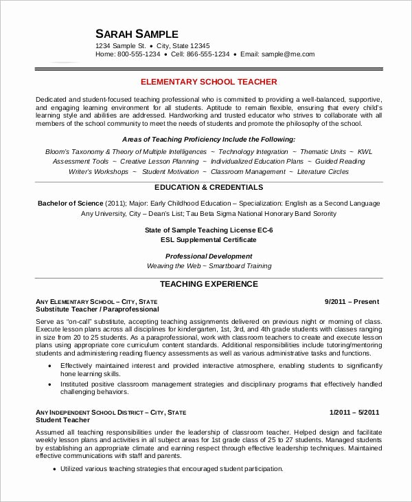 Teacher Resume Template Word Free Lovely Free Teacher Resume 40 Free Word Pdf Documents