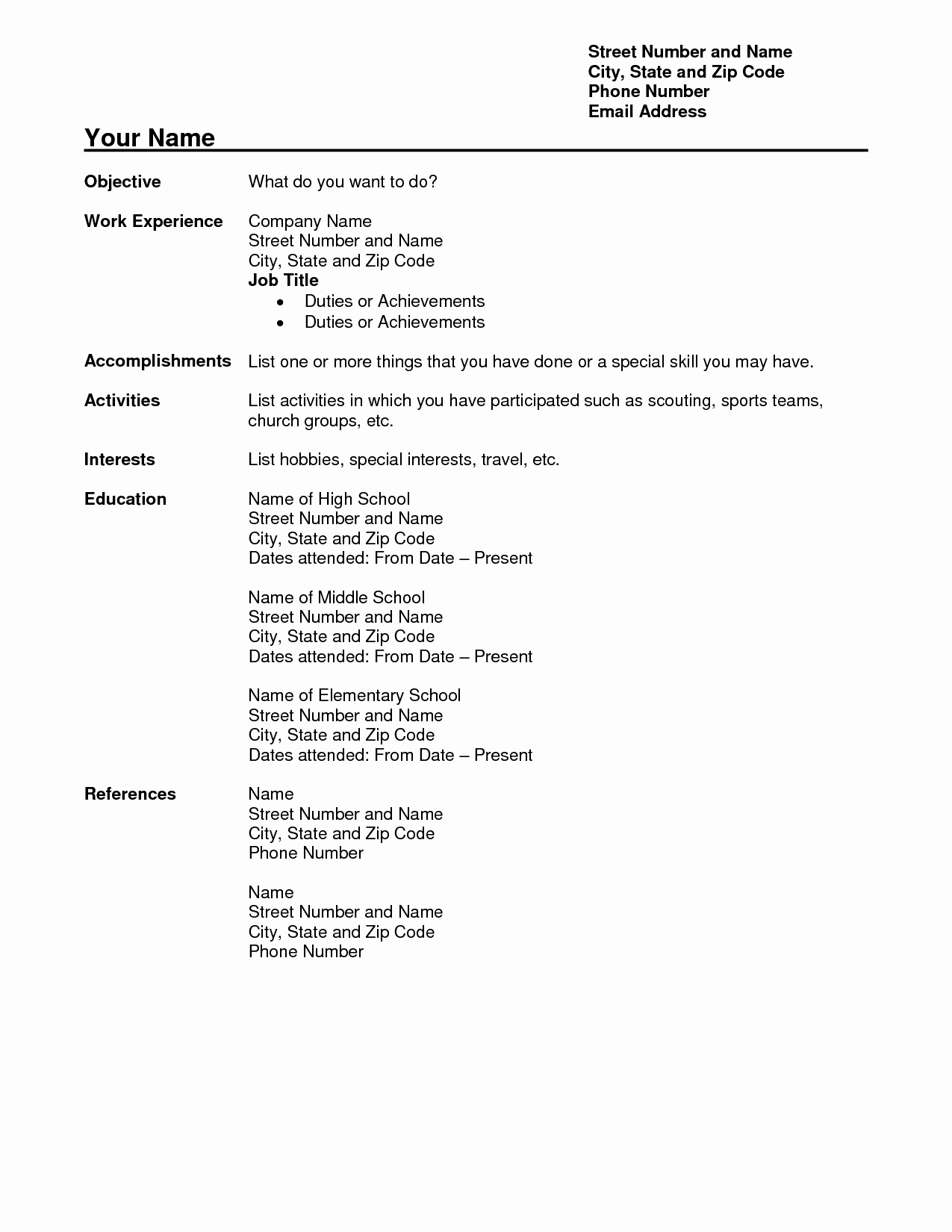 Teacher Resume Template Word Free Unique Free Teacher Resume Templates Download Free Teacher Resume
