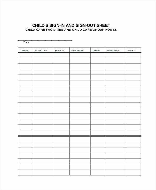 Teacher Sign In Sheet Template Lovely attendance Sign In Sheet Cover Letter Security Sheets