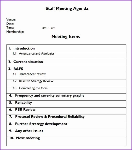 Teacher Team Meeting Agenda Template Beautiful 9 School Team Meeting Agenda Template