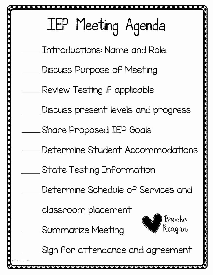 Teacher Team Meeting Agenda Template Fresh Keep Your Iep Meeting On Track with This Agenda You Will