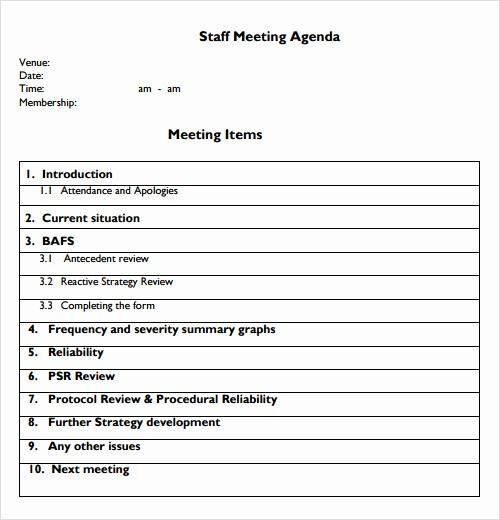 Teacher Team Meeting Agenda Template Lovely 12 Sample Agenda Templates