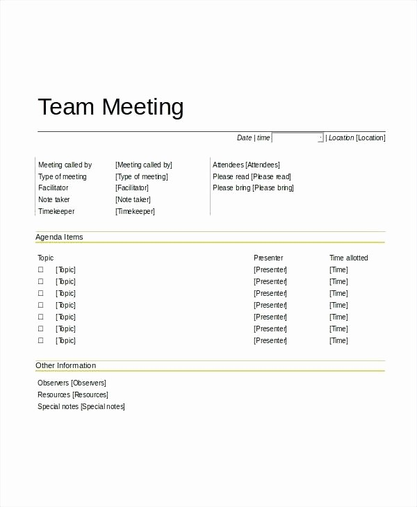 Teacher Team Meeting Agenda Template New Meetings Agenda Template Team Meeting Staff – Deepwatersfo
