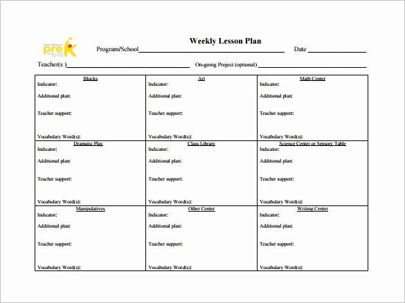 Teacher Weekly Lesson Plan Template Beautiful Weekly Lesson Plan Template 8 Free Word Excel Pdf