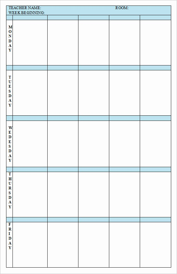 Teacher Weekly Lesson Plan Template Inspirational 8 Weekly Lesson Plan Samples