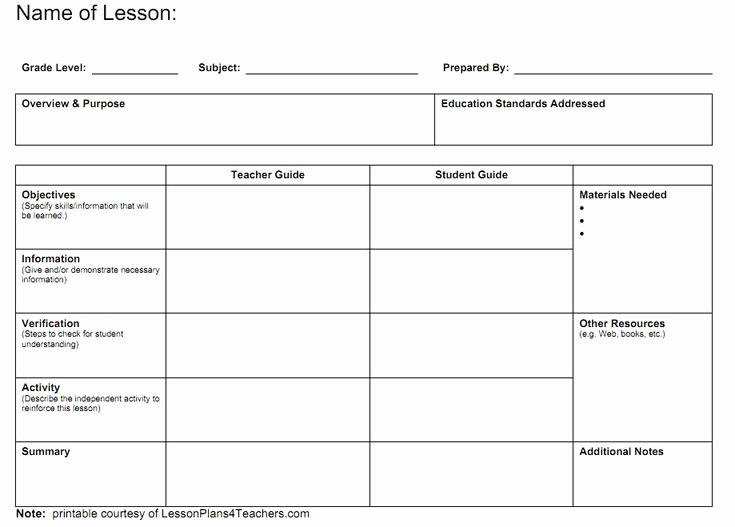 Teacher Weekly Lesson Plan Template Inspirational Best 25 Blank Lesson Plan Template Ideas On Pinterest