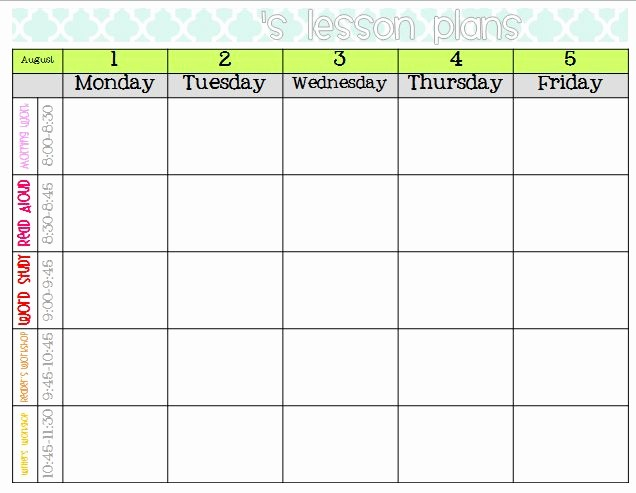 Teacher Weekly Lesson Plan Template Lovely Weekly Lesson Plan Template Google Search