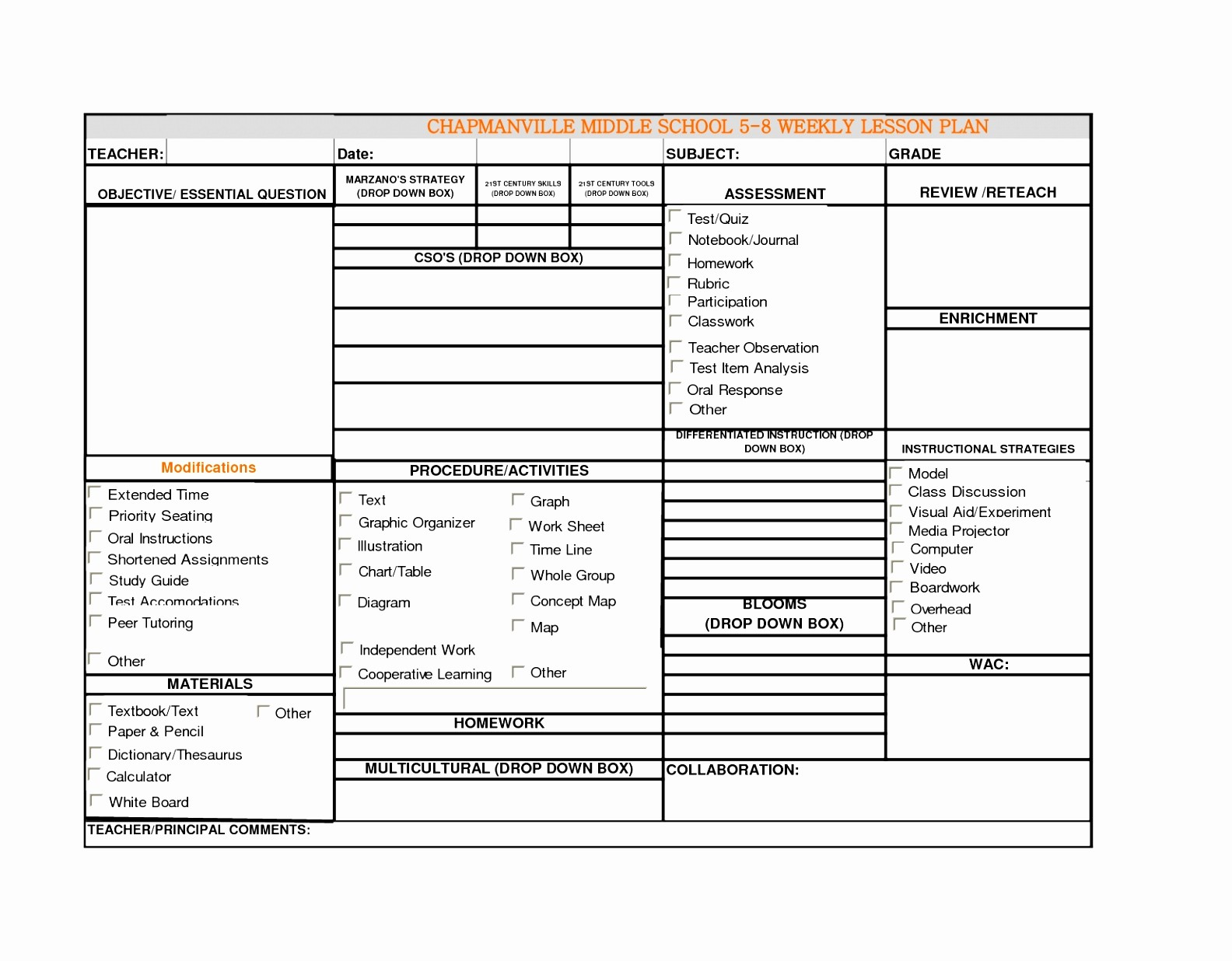 Teacher Weekly Lesson Plan Template Luxury 7 Weekly Lesson Plan Template Excel Eoowu