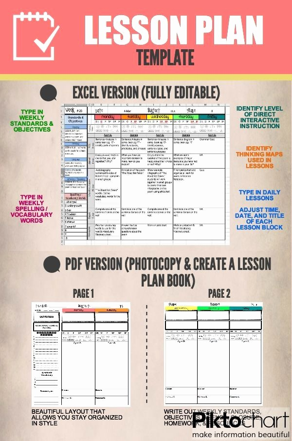 Teacher Weekly Lesson Plan Template Luxury Best 20 Weekly Lesson Plan Template Ideas On Pinterest