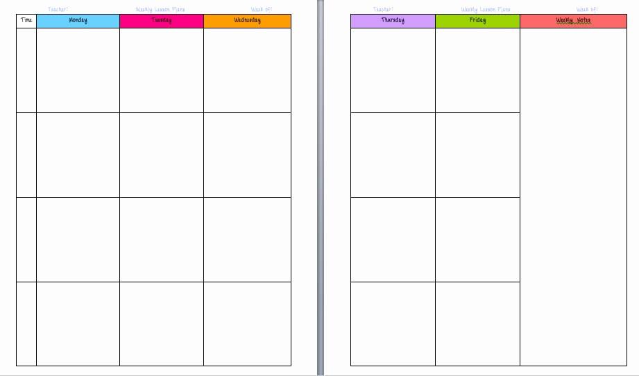 Teacher Weekly Lesson Plan Template Unique Free Printable Calendars for Teachers Calendar Template 2018