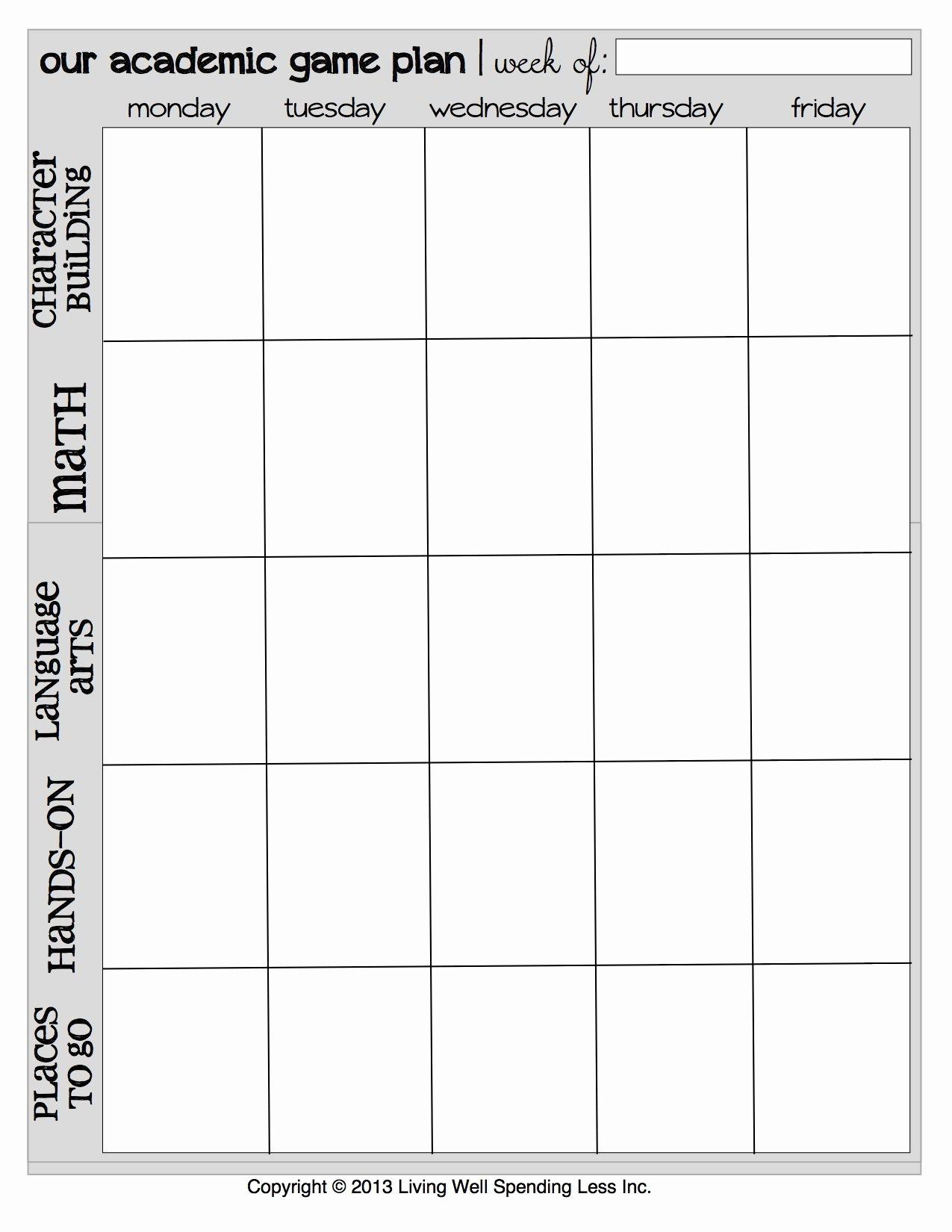 Teacher Weekly Planner Template Download Beautiful 6 Best Of Teacher Planner Free Printable Templates
